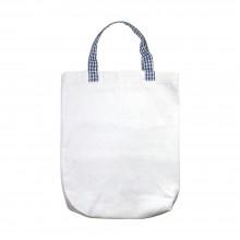 캔버스천 - 작은가방(손잡이체크)