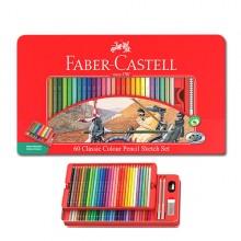 [파버카스텔]일반색연필 60색 틴케이스