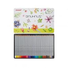 [모나미]바우하우스36색 나무색연필