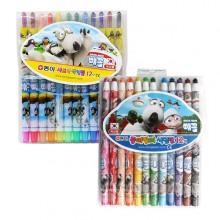 동아 12색 빼꼼 색연필