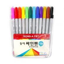 동아 12색 사인펜/줄무늬