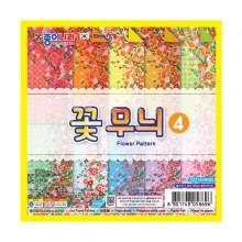 1500종이나라 양면색종이 꽃무늬 4번(낱개)1개