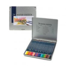 문화 24색 수채 색연필 틴케이스