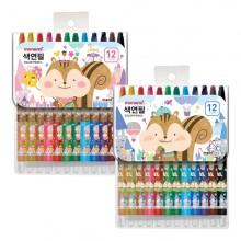 모나미 모니주 샤프식 색연필 12색