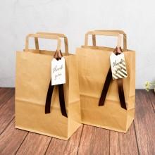 디자인랩 벌크  크라프트 플랫 쇼핑백(50매)
