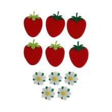 2500 유니아트 펠트 딸기