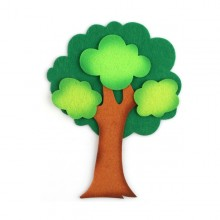 4000 유니아트 펠트 투톤 삼잎 나무