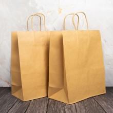 쿠키 트위스트백 4호 10입 크라프트 종이가방 쇼핑백 260x90x340mm