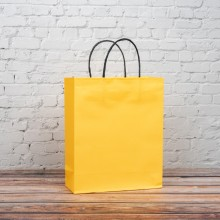 옐로우 트위스트백 3호 230x90x280mm 종이가방 쇼핑백
