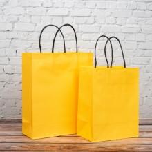 옐로우 트위스트백 3호 10개입 230x90x280mm 종이가방 쇼핑백