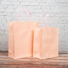 핑크 트위스트백 1호 10개입 180x110x235mm 종이가방 쇼핑백