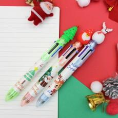 크리스마스 6색 볼펜 산타 트리 눈사람