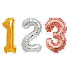 컬러룬 숫자 은박 풍선 소 파티 기념일 생일