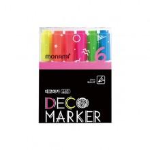 모나미 데코마카 460 6색 세트 형광 2mm