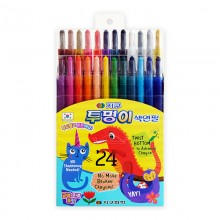 지구화학 투명이 색연필 24색 샤프식