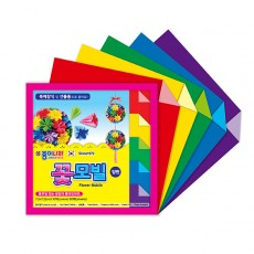 종이나라 양면 꽃모빌 접기 10색 60매 7.5x7.5cm